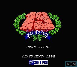 Title screen of the game 19 - Neunzehn on Nintendo Famicom Disk