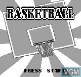 Title screen of the game Basketball on Bit Corporation Gamate