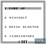 Title screen of the game 4-in-1 on Bit Corporation Gamate