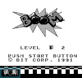 Title screen of the game Boom on Bit Corporation Gamate