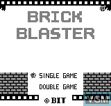 Title screen of the game Brick Blaster on Bit Corporation Gamate