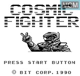 Title screen of the game Cosmic Fighter on Bit Corporation Gamate