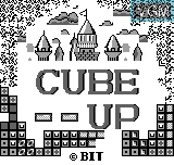 Title screen of the game Cube Up on Bit Corporation Gamate