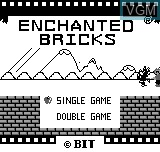Title screen of the game Enchanted Bricks on Bit Corporation Gamate
