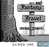 Title screen of the game Fantasy Travel on Bit Corporation Gamate