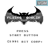 Title screen of the game Flying Goblin on Bit Corporation Gamate