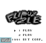 Title screen of the game Flipuzzle on Bit Corporation Gamate