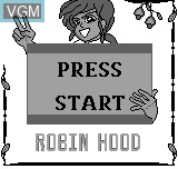 Title screen of the game Robin Hood on Bit Corporation Gamate