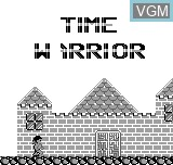 Title screen of the game Time Warrior on Bit Corporation Gamate