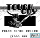 Title screen of the game Tough Boy on Bit Corporation Gamate
