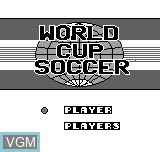 Title screen of the game World Cup Soccer on Bit Corporation Gamate