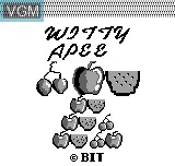 Title screen of the game Witty Apee on Bit Corporation Gamate