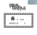 Menu screen of the game Devil Castle on Bit Corporation Gamate