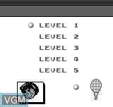 Menu screen of the game Tennis on Bit Corporation Gamate