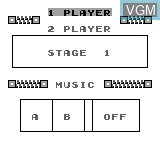 Menu screen of the game Witty Apee on Bit Corporation Gamate