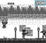 In-game screen of the game Tough Boy on Bit Corporation Gamate
