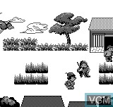 In-game screen of the game Robin Hood on Bit Corporation Gamate