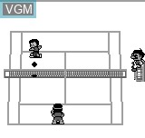 In-game screen of the game Tennis on Bit Corporation Gamate
