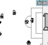 In-game screen of the game World Cup Soccer on Bit Corporation Gamate