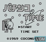 Title screen of the game Pachinko Time on Nintendo Game Boy