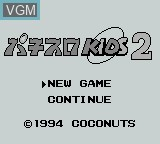 Title screen of the game Pachi-Slot Kids 2 on Nintendo Game Boy