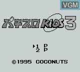 Title screen of the game Pachi-Slot Kids 3 on Nintendo Game Boy