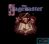 Title screen of the game Pagemaster, The on Nintendo Game Boy