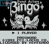 Title screen of the game Panel Action Bingo on Nintendo Game Boy