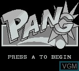 Title screen of the game Pang on Nintendo Game Boy
