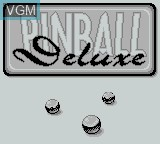 Title screen of the game Pinball Deluxe on Nintendo Game Boy