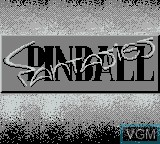 Title screen of the game Pinball Fantasies on Nintendo Game Boy