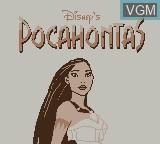 Title screen of the game Pocahontas on Nintendo Game Boy