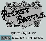 Title screen of the game Pocket Battle on Nintendo Game Boy
