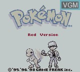 Title screen of the game Pokemon Red Advanced on Nintendo Game Boy