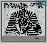 Title screen of the game Pyramids of Ra on Nintendo Game Boy