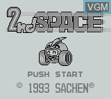 Title screen of the game 2nd Space on Nintendo Game Boy