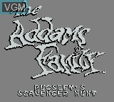 Title screen of the game Addams Family, The - Pugsley's Scavenger Hunt on Nintendo Game Boy