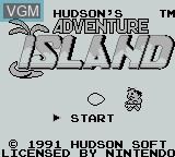 Title screen of the game Adventure Island on Nintendo Game Boy