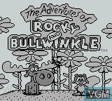 Title screen of the game Adventures of Rocky and Bullwinkle, The on Nintendo Game Boy