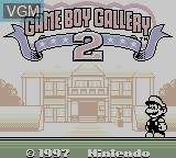 Title screen of the game Gameboy Gallery 2 on Nintendo Game Boy
