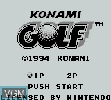 Title screen of the game Konami Golf on Nintendo Game Boy