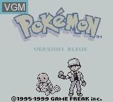 Title screen of the game Pokemon - Version Bleue on Nintendo Game Boy