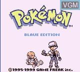Title screen of the game Pokemon - Blaue Edition on Nintendo Game Boy