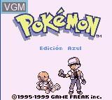 Title screen of the game Pokemon - Edicion Azul on Nintendo Game Boy