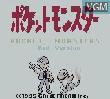 Title screen of the game Pocket Monsters - Red Version on Nintendo Game Boy