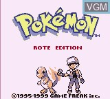 Title screen of the game Pokemon - Rote Edition on Nintendo Game Boy