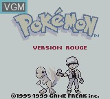 Title screen of the game Pokemon - Version Rouge on Nintendo Game Boy