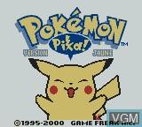 Title screen of the game Pokemon - Version Jaune on Nintendo Game Boy