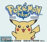 Title screen of the game Pokemon - Gelbe Edition on Nintendo Game Boy