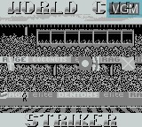 Title screen of the game World Cup Striker on Nintendo Game Boy
